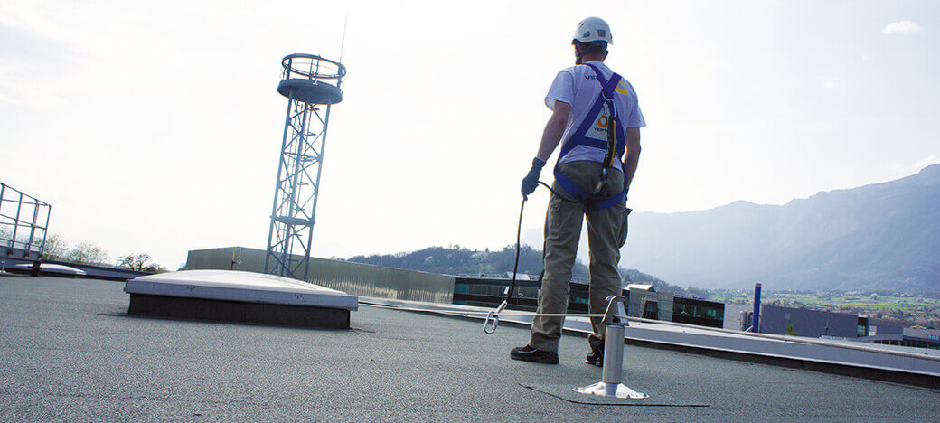 Fall protection system for roofs